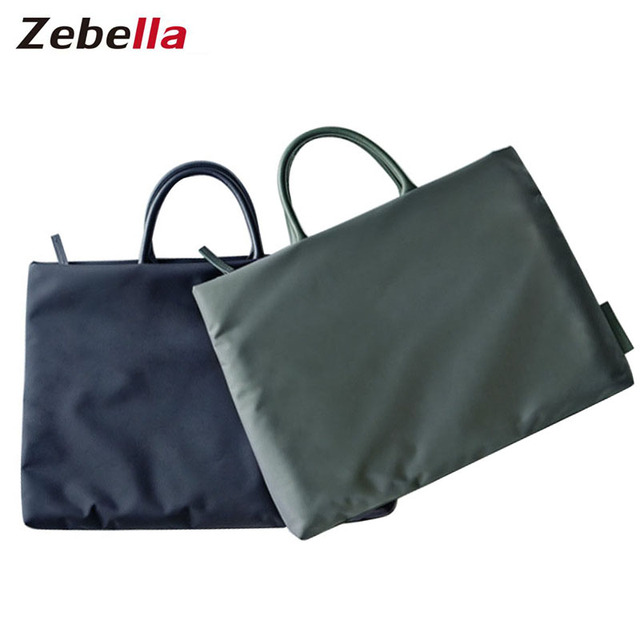 3e0a27e1f9eb Zebella Business Simple Style Nylon Briefcases Men Female Bags Briefcase Bag  Solid Office Bags For Male