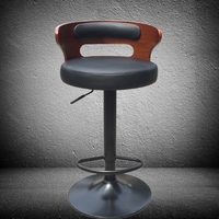 Modern Retro Bar Stairs Stretch Bar Stools Solid Wooden Counter Front Desk Coffee Chair Household Dining