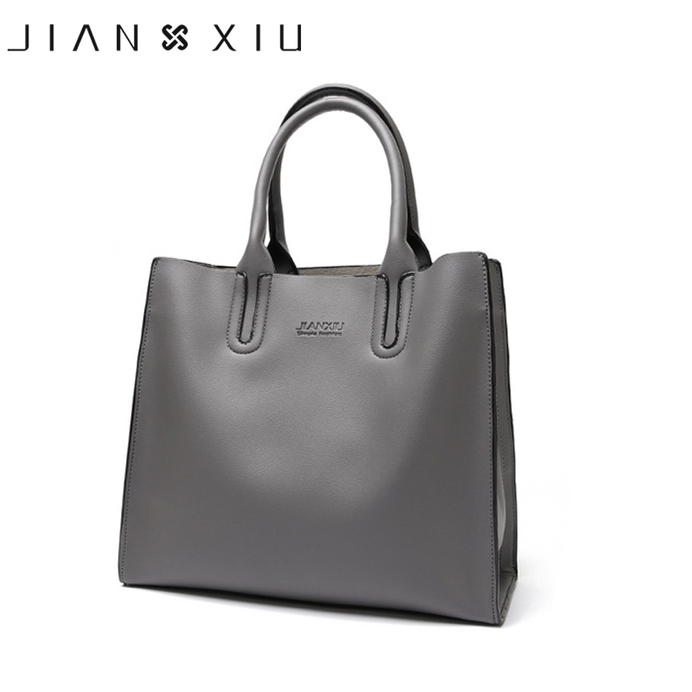 JIANXIU Brand Women Pu Leather Handbags Fashion Shoulder Crossbody Bags Large Female Tote Bag 2 Solid Color High Quality Handbag micocah fashion women shoulder bag 2 colors quality brand handbags for female pu leather gh50007