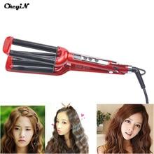 LCD dicplay Electric Ceramic Styler Hair Waver curler 3 Triple Barrel Wavers Hair Styling Tools Hair Curling Iron Curling Wand