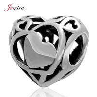 Openwork Heart Charms Valentine S Day Gift 925 Sterling Silver Love Beads DIY Jewelry Making For