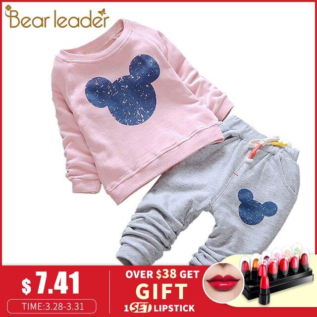 a38a02fac1778a R$ 34.25 43% de desconto|Líder do urso Do Bebê Roupas Das Meninas Primavera  Conjuntos de Roupas de Bebê Dos Desenhos Animados Impressão Ocasional ...