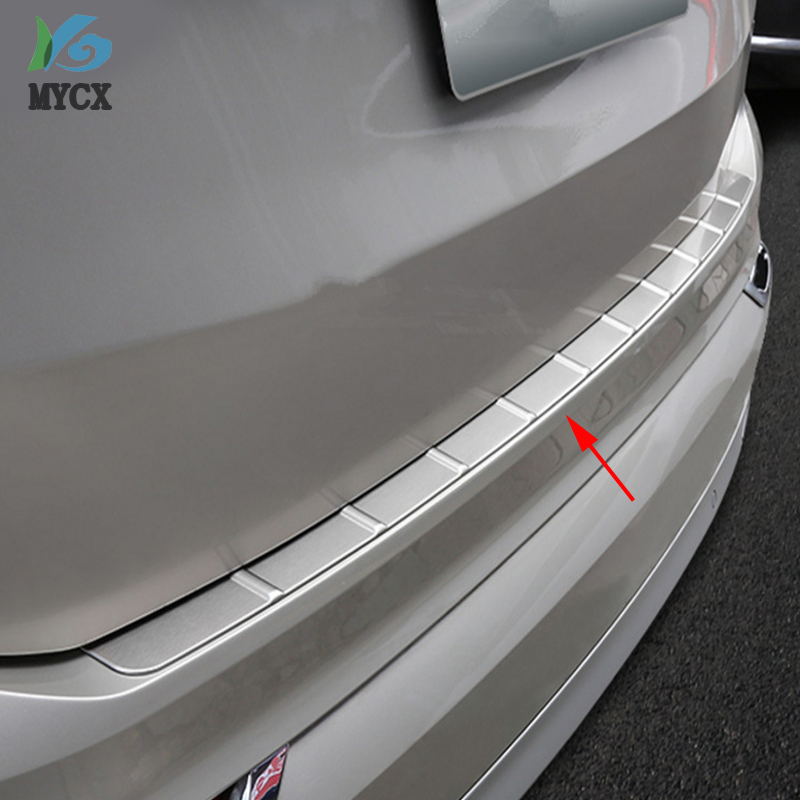 For <font><b>Volvo</b></font> XC90 <font><b>XC</b></font> <font><b>90</b></font> 2015 2016 <font><b>2017</b></font> 2018 Stainless Steel Outer Rear Bumper Guard Plate Cover Trim 1pcs Car Styling Accessories image