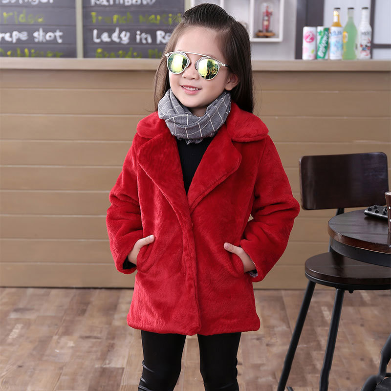 Children's clothing girls fur jacket thick warm European and American fur coat tide foreign trade 2018 autumn and winter new спортивная футболка foreign trade and exports ni ke