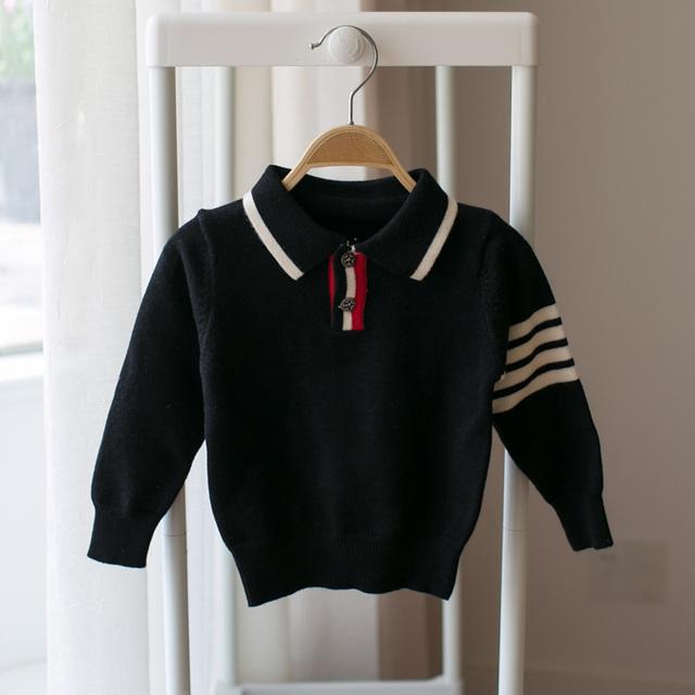 2017 novas crianças outono camisola camisola gola meninos menino bebê camisola estilo de moda