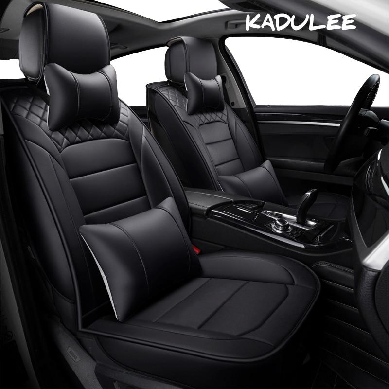 KADULEE pu couro auto tampa de Assento Do Carro Universal para todos os modelos da Nissan qashqai x-trail tiida Nota Março De Murano Teana carro-styling