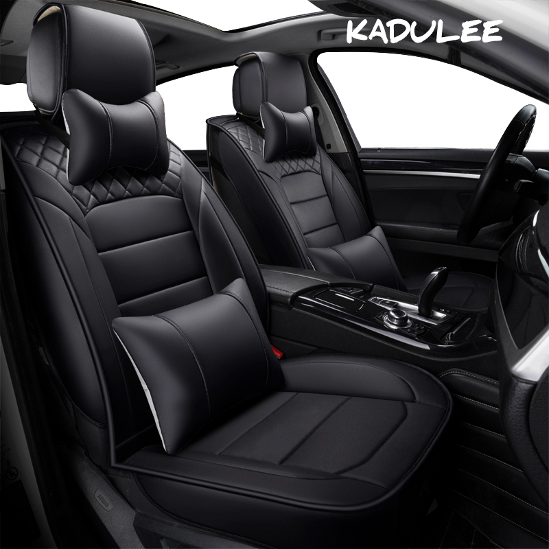 KADULEE pu leather auto Universal Car Seat cover for Nissan all models qashqai x-trail tiida Note Murano March Teana car-styling ceyes car styling car emblems case for nissan nismo juke x trail qashqai tiida teana car styling auto cover accessories 4pcs lot