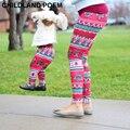 Зима Мать и дочь одежда Мама дочь Рождественские брюки Печати Капри Семьи Соответствующие Наряды Мать Девушки Леггинсы Брюки