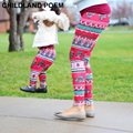 Winter Mother and daughter clothes Mom daughter Christmas pants Print Capris Family Matching Outfits Mother Girl Leggings Pants