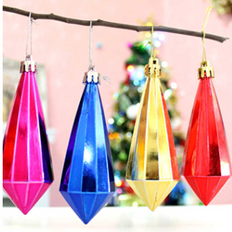 6PCS/set Christmas Crystal Pendant Decoration More Colors Diamond Shape Gift Home Party Ornaments Decoration