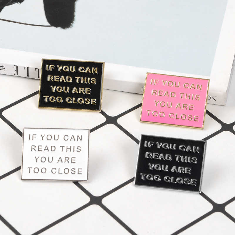 Detail Feedback Questions about Too Close Enamel Pin Square Funny