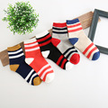 5pairs/bag winter women socks color stripe cute style girls sock antumn spring cotton breathe thick socks  A0024