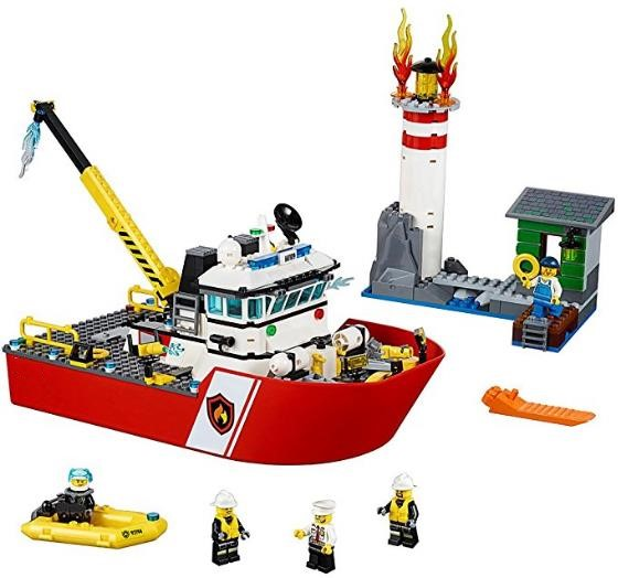 Bela city 10830 Fire Boat 450PCS building blocks city products and sets bricks similar to <font><b>60109</b></font> fire boat city sets blocks image