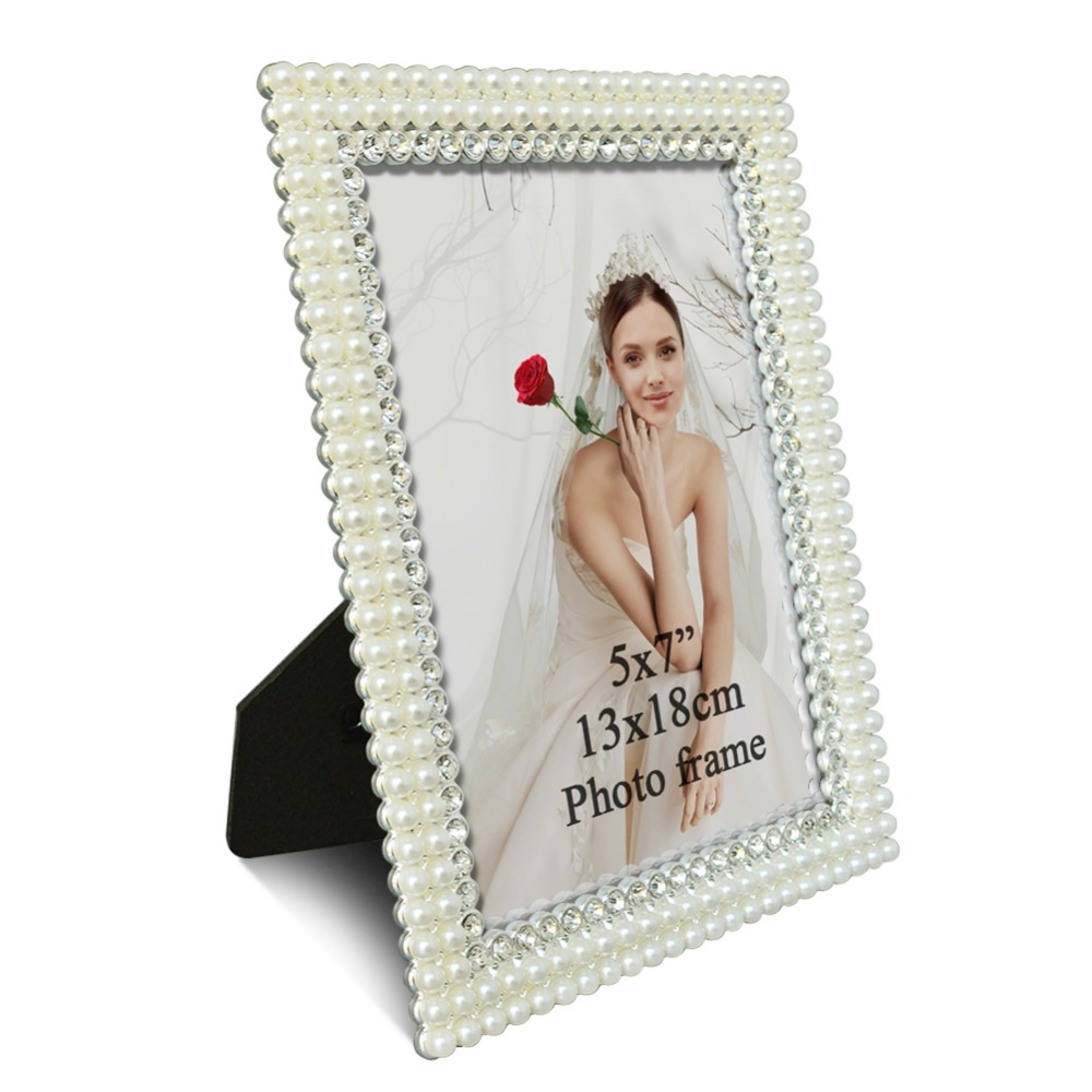 Giftgarden 5x7 Silver Alloy Classic Photo Frames Vintage Picture Frame Table Decoration Anniversary Gift Wedding decor in Frame from Home Garden