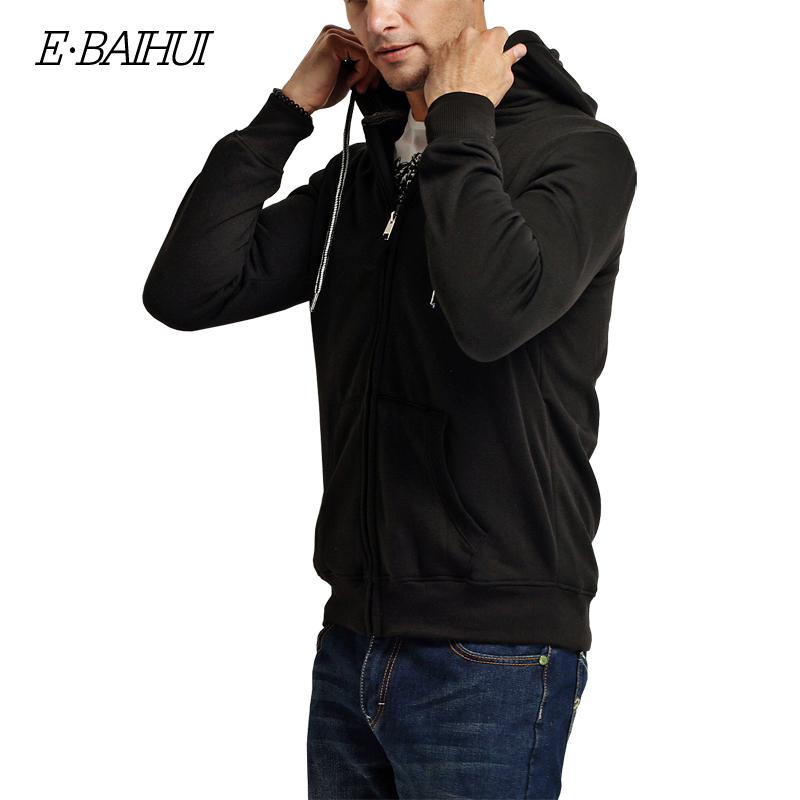 Muška odeća ... Duksevi ... 32742711192 ... 4 ... E-BAIHUI 2019 new autumn cotton zipper coats men's fashion hoodies and sweatshirts man casual winter hoodies men jacket 5742 ...