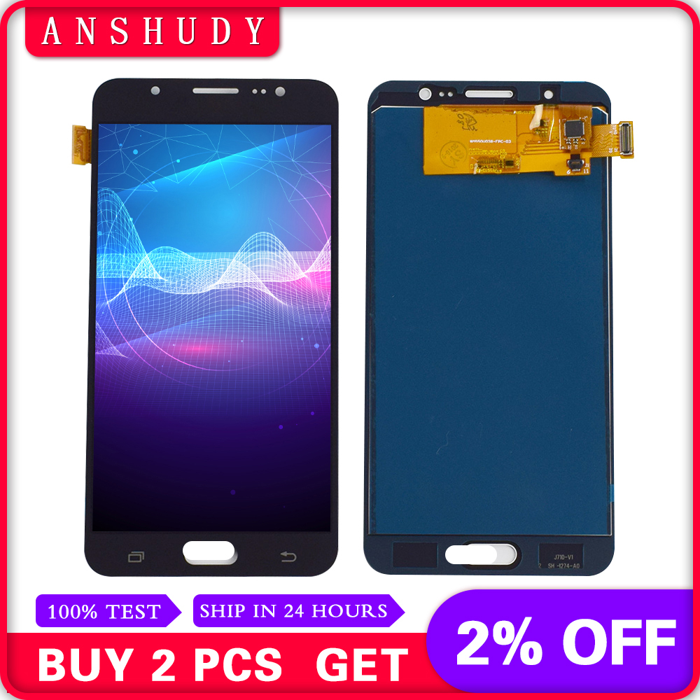 For Samsung Galaxy J7 2016 J710 J710F J710M J710H J710FN Full LCD Display Panel Module + Touch Screen Digitizer Sensor AssemblyFor Samsung Galaxy J7 2016 J710 J710F J710M J710H J710FN Full LCD Display Panel Module + Touch Screen Digitizer Sensor Assembly