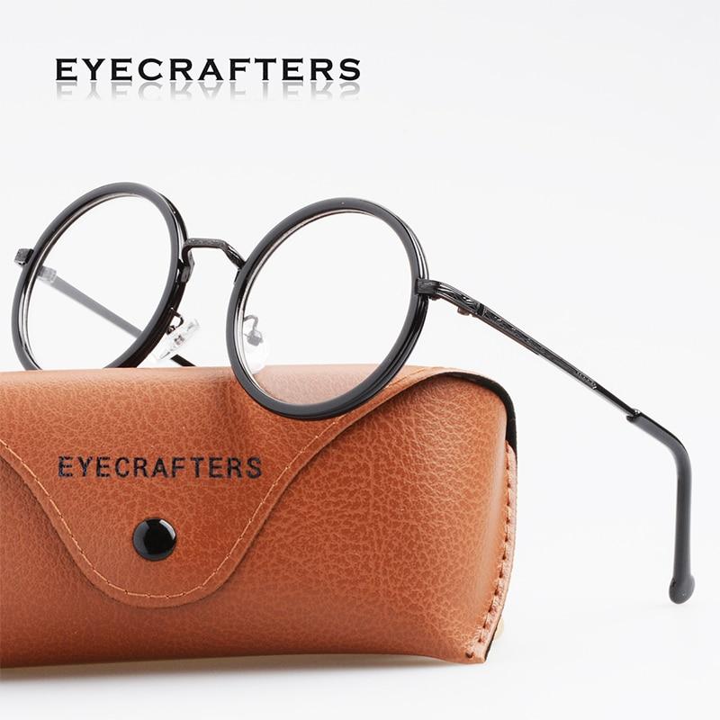 d63cb91d29ae54 Eyecrafters Retro dame Ronde Brillen Frame Hoge Kwaliteit Mannen ...