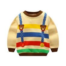 Модная зимняя одежда с рисунком для маленьких мальчиков; Милые Стильные топы для маленьких девочек