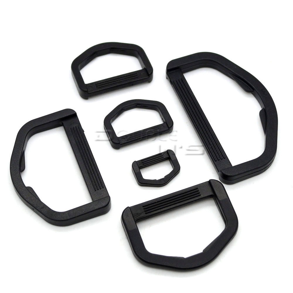 Plastic D Rings Buckles for Webbing Hand Bags Leather Craft Webbing 12mm~50mm