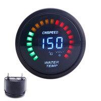 Original Logo 52mm 2 Inch LCD Digital Water Temp Gauge With Sensor Water Temperature Gauge Car