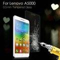 Для Lenovo A5000 5.0-дюймовый Края Дуги Экран Протектор 0.3 мм Закаленное Стекло-Экран Протектор Пленка для Lenovo A 5000 Дуга Края