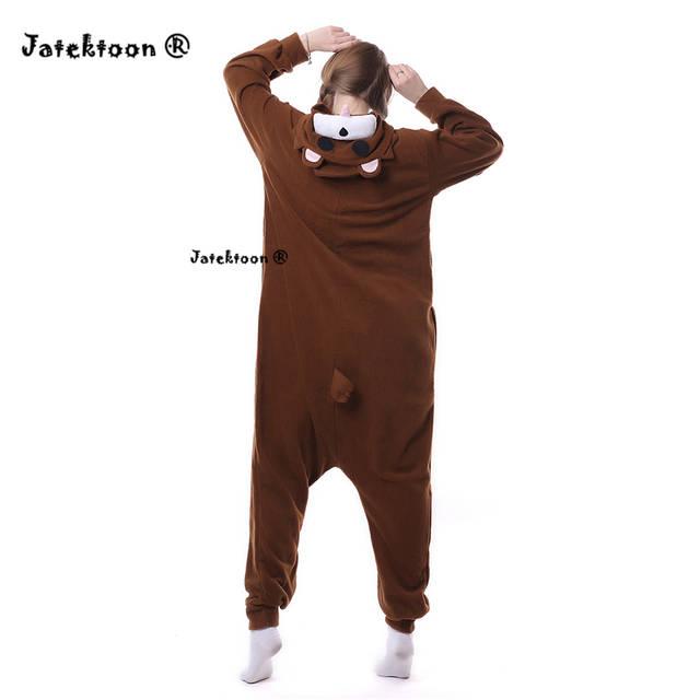 2e27a27f5569 placeholder Brown Pedo Bear Cute Little Bear Pedobear Soft Pajama Anime  Cosplay Costume Unisex Adult Onesie Sleepwear