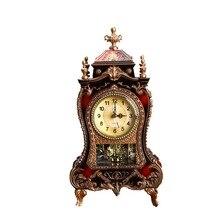 Reloj despertador Retro de escritorio clásico sala de estar TV gabinete Imperial europeo creativo Sit péndulo Relojes