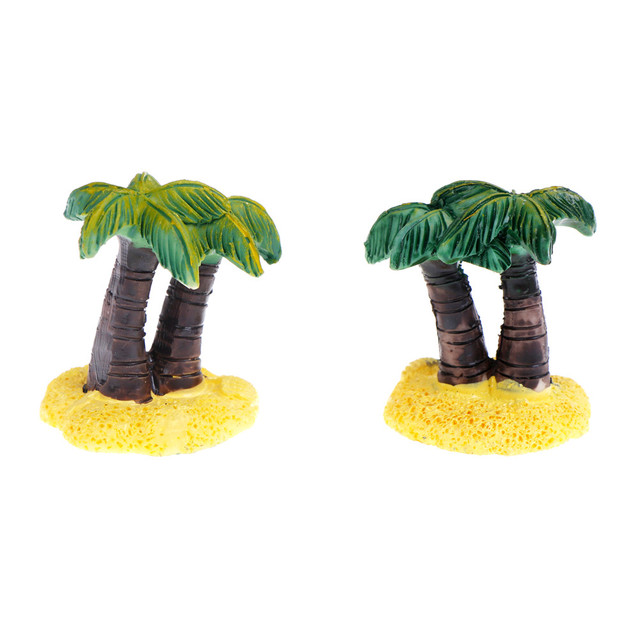 1pc Resin Coconut Palm Tree Miniature Plant Pots Bonsai Craft Micro Landscape Diy Party Decoratuin