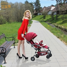 YIBAOLAI baby stroller 2 in 1 baby stroller two way shock absorbers baby car cart trolley