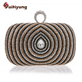 2016 New Fashion Design Women's Handbag Ring Day Clutch Luxury Crystal Wedding Small Clutch Party Evening Bags Purse Diamond Bag
