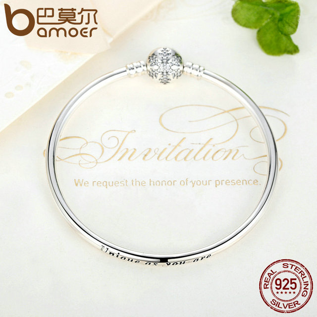 Sterling Silver Engrave Snowflake Clasp Unique Chain