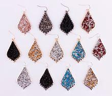 Популярные новые дизайнерские серьги с кристаллами и каплевидными