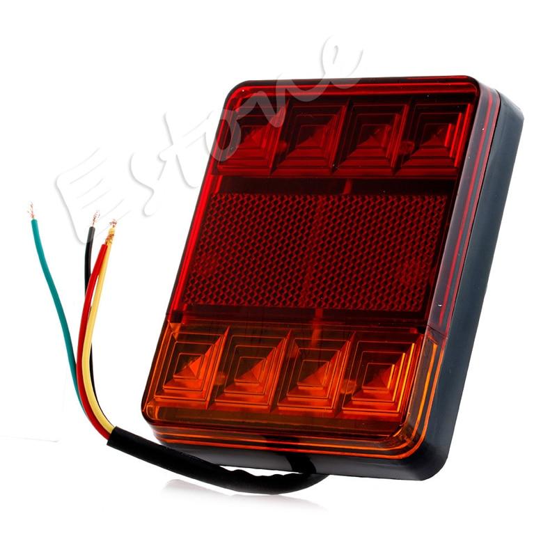 1 Pair LED Waterproof Truck Trailer CARAVAN Stop Brake Tail Light Indicator Lamp dodge caravan iv купить бу
