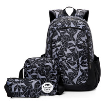 3pcs/Sets women Men Travel Backpacks Camouflage Printing Sch
