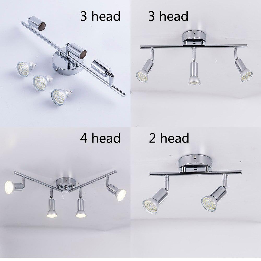 Adjustable led Ceiling light 3 heads rotatable showcase corridor ceiling lamp Modern living room bedroom kitchen spot lighting