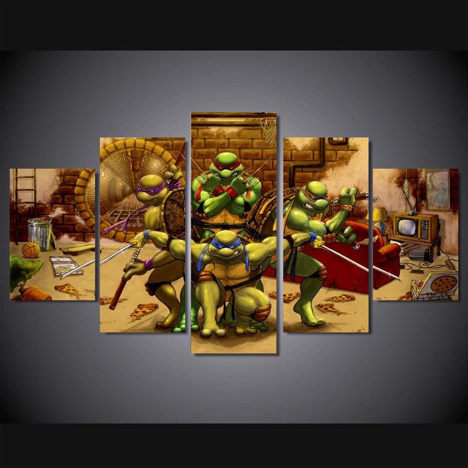 J0810 Tmnt 2016 Age Mutant Ninja Turtles 2 Movie Pop 14x21 24x36 Inches Silk Art