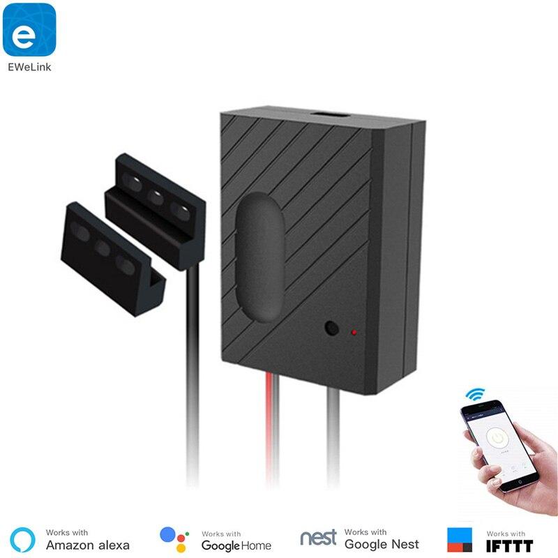 Télécommande sans fil intelligente d'ouvre-porte de Garage de maison Compatible avec Alexa, Google Home, Nest et IFTTT utilisent l'application ewelink