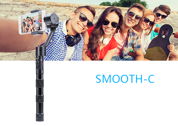 New! Official Zhiyun [SmoothC] 3 Axis Brushless Handheld Camera Gimbal Stabilizer for smartphone