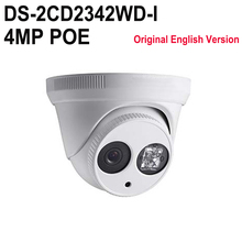 In stock HIKVISION DS-2CD2342WD-I English version IR 4MP CCTV camera EXIR WDR p2p ip camera POE replace DS-2CD2332-I H.265