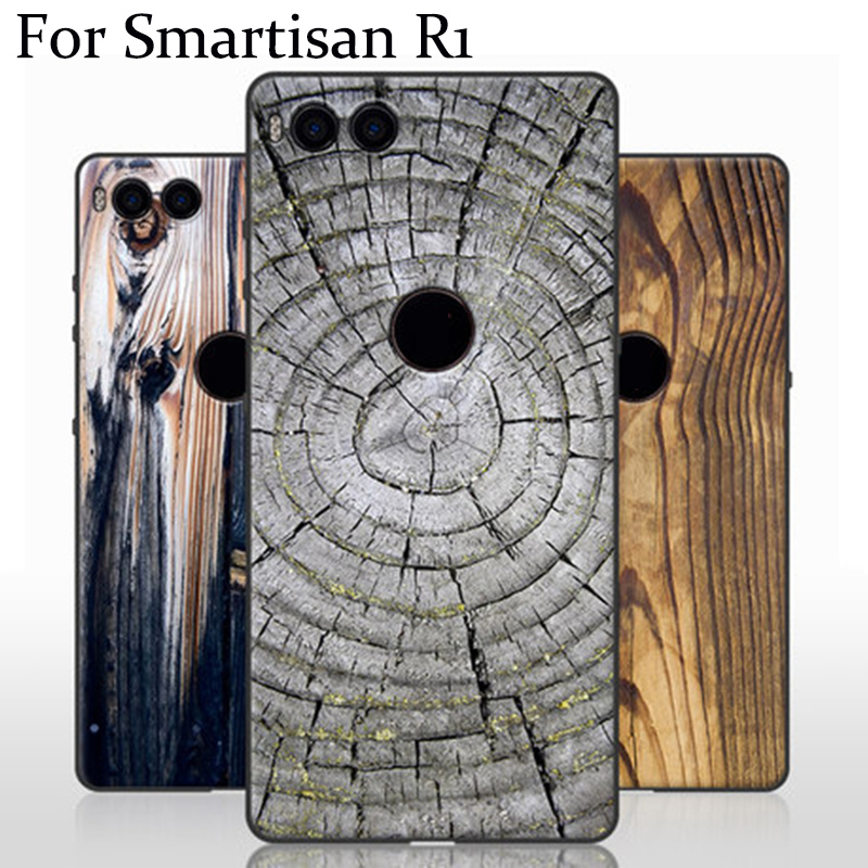 Wood style phone cases For Smartisan Nut R1 case soft back cover For Smartisan NutR1 shell case For Smartisan Nut R 1 cover