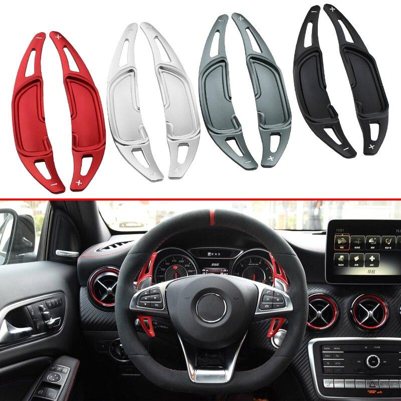 Автомобиль Стайлинг рулевого колеса Шестерни Ex весло Shifter для Mercedes-Benz AMG W176 A205 W205 W213 W222 C217 W218 x166 C253 аксессуары