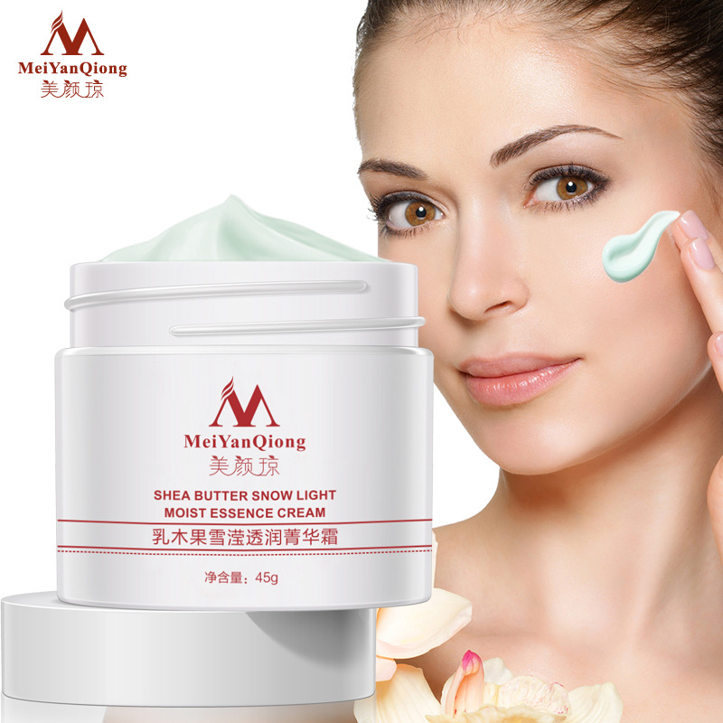 MeiYanQiong Shea Butter Face Cream Snow Light Moist Essence Cream Virginia Hamamelis Whitening Cream Skin Care Rejuvenation