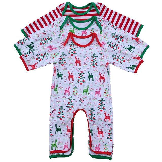 personalized christmas pajamas full piece newborn infant christmas pajamas baby christmas romper monogrammed christmas gown