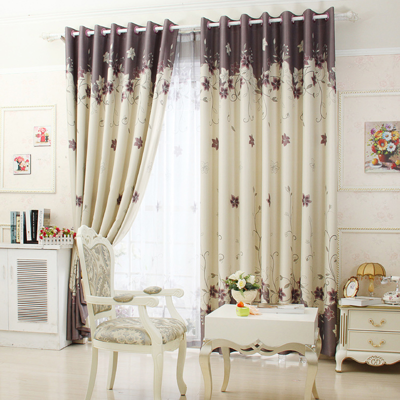 1piece readymade blackout curtain lr xiangshui chinese for Ganchos para colgar cortinas