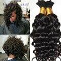 7ABrazilian virgin deep wave curly human braiding hair bulk 100g/piece deep wave curly crochet hair extensions human hair bulk
