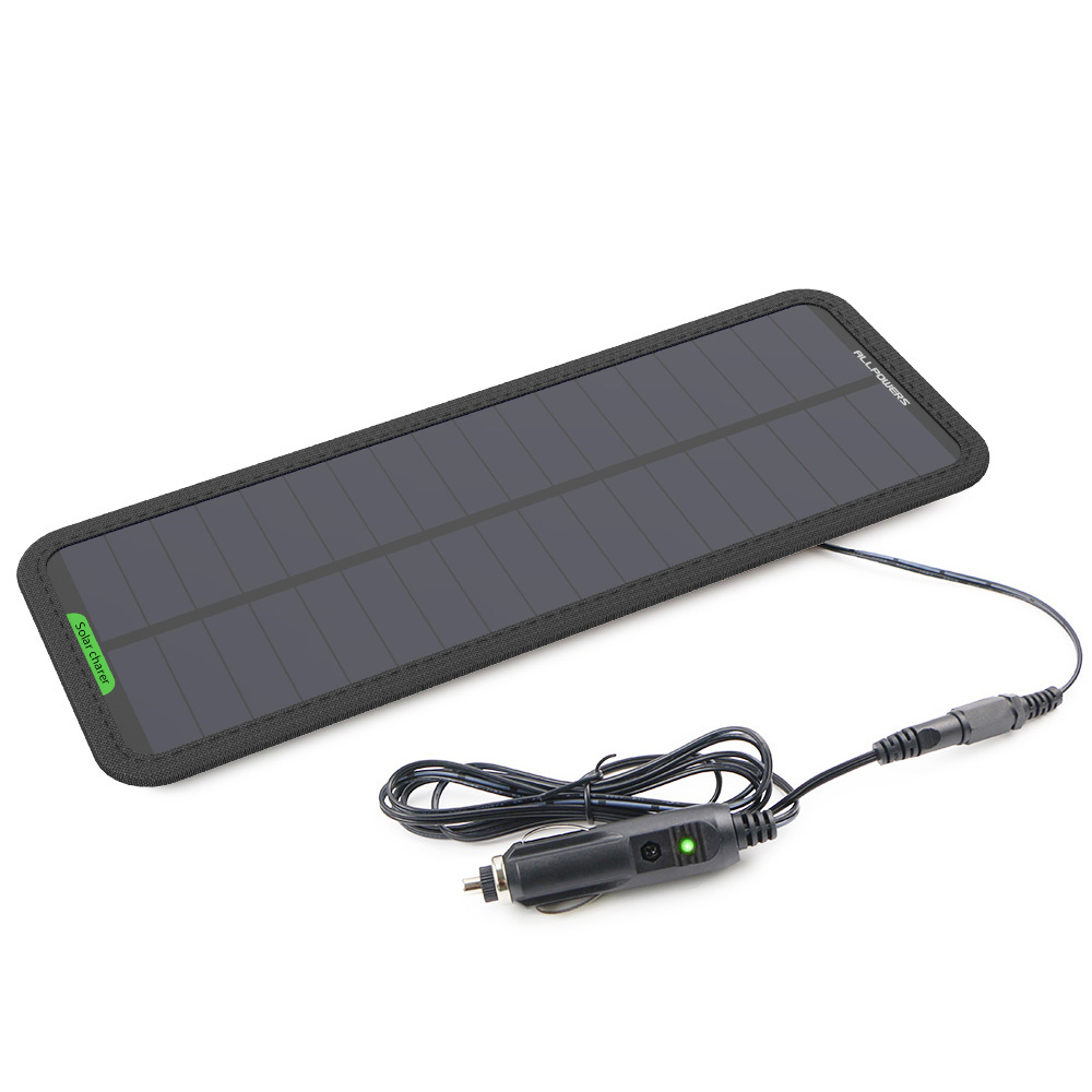 Solar Charger Battery 12V Solar Maintainer Charging for 12V Vehicle/Motorcycle Battery Keep from Vehicle Drain Out Battery Power