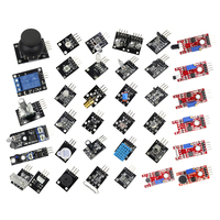 Free Shipping 37 In 1 Box For Starters Compatible Sensor Module Kit For Arduino Vibration Switch