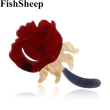 Fishsheep Akrilik Vintage Bunga Bros Wanita Bros Perhiasan Fashion Tanaman Bros Brocade Mujer Broach Syal Spill Hadiah(China)
