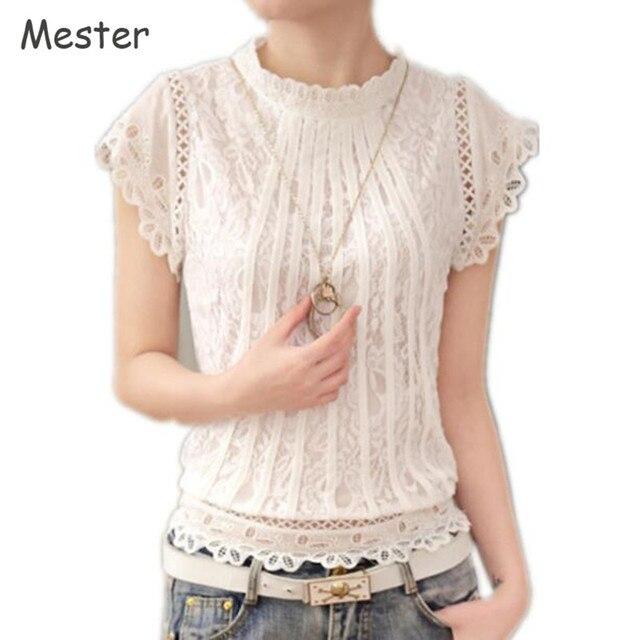 witte blouse met korte mouw dames