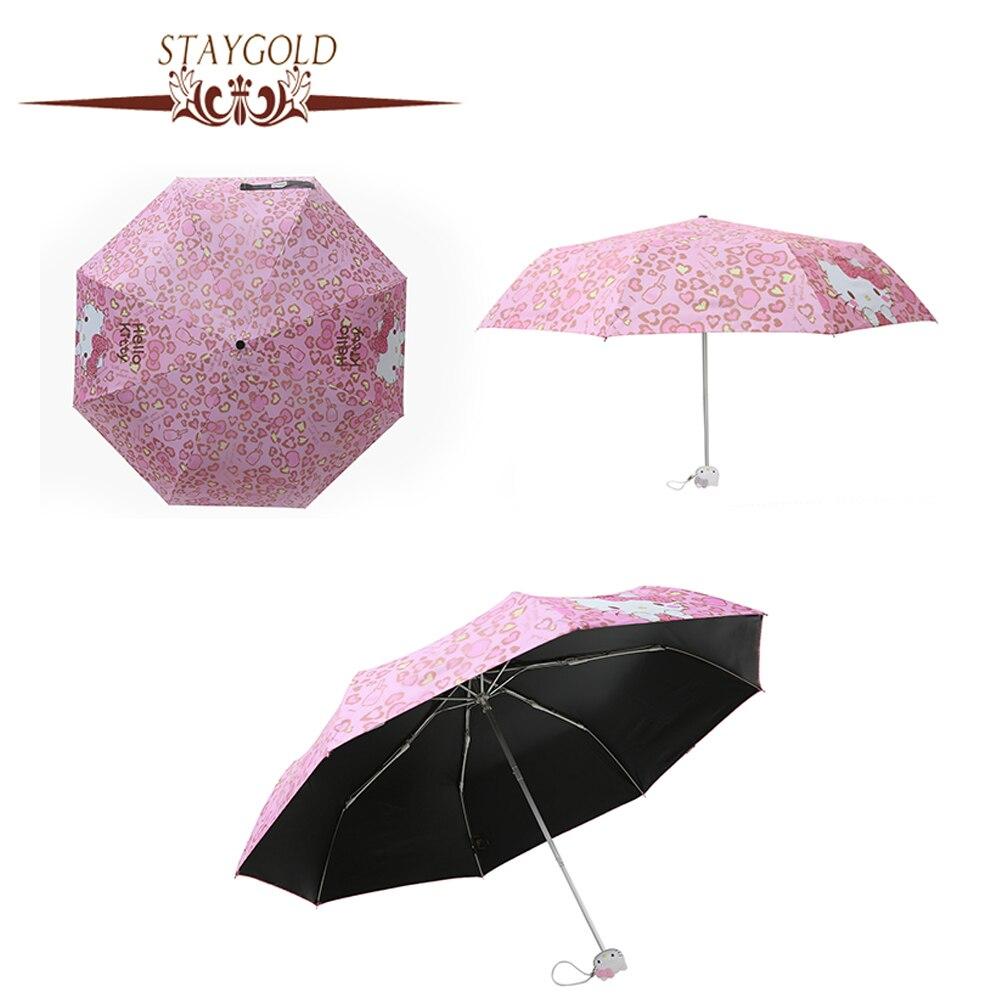 Hello kitty anti uv umbrella rain women umbrellas - Parasol anti uv ...